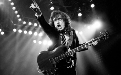 AC/DC 黑白现场图片