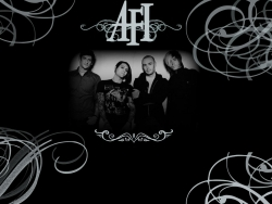 AFI乐队黑白LOGO壁纸