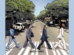 披头士过马路高清大图