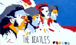 The Beatles 设计风格彩色壁纸