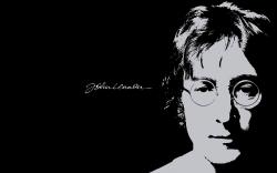 披头士约翰列侬黑色纪念壁纸