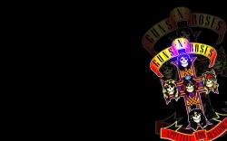枪花 GUNS N ROSES logo壁纸