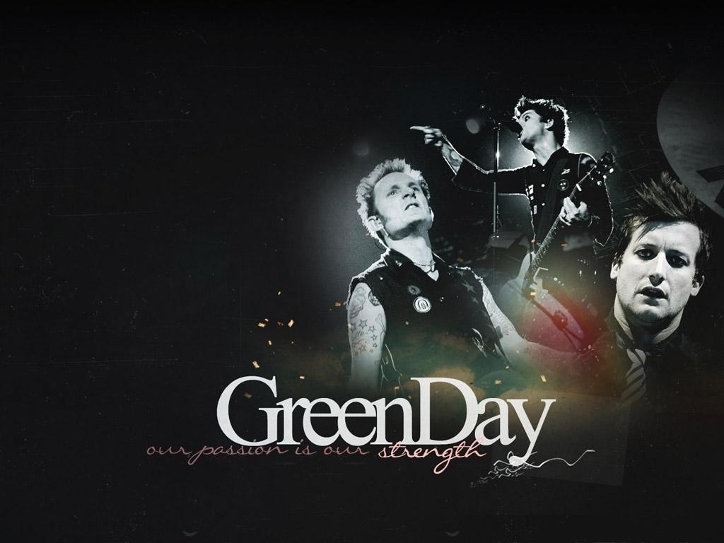 Green Day 黑色摇滚壁纸