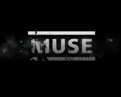 MUSE 乐队黑色logo桌面背景