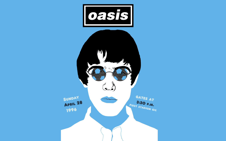 Oasis乐队主唱卡通图片