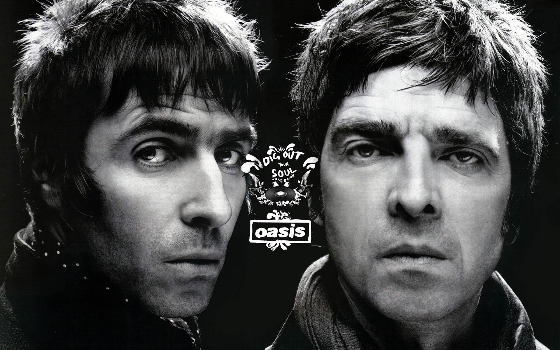 Oasis 绿洲乐队黑色壁纸