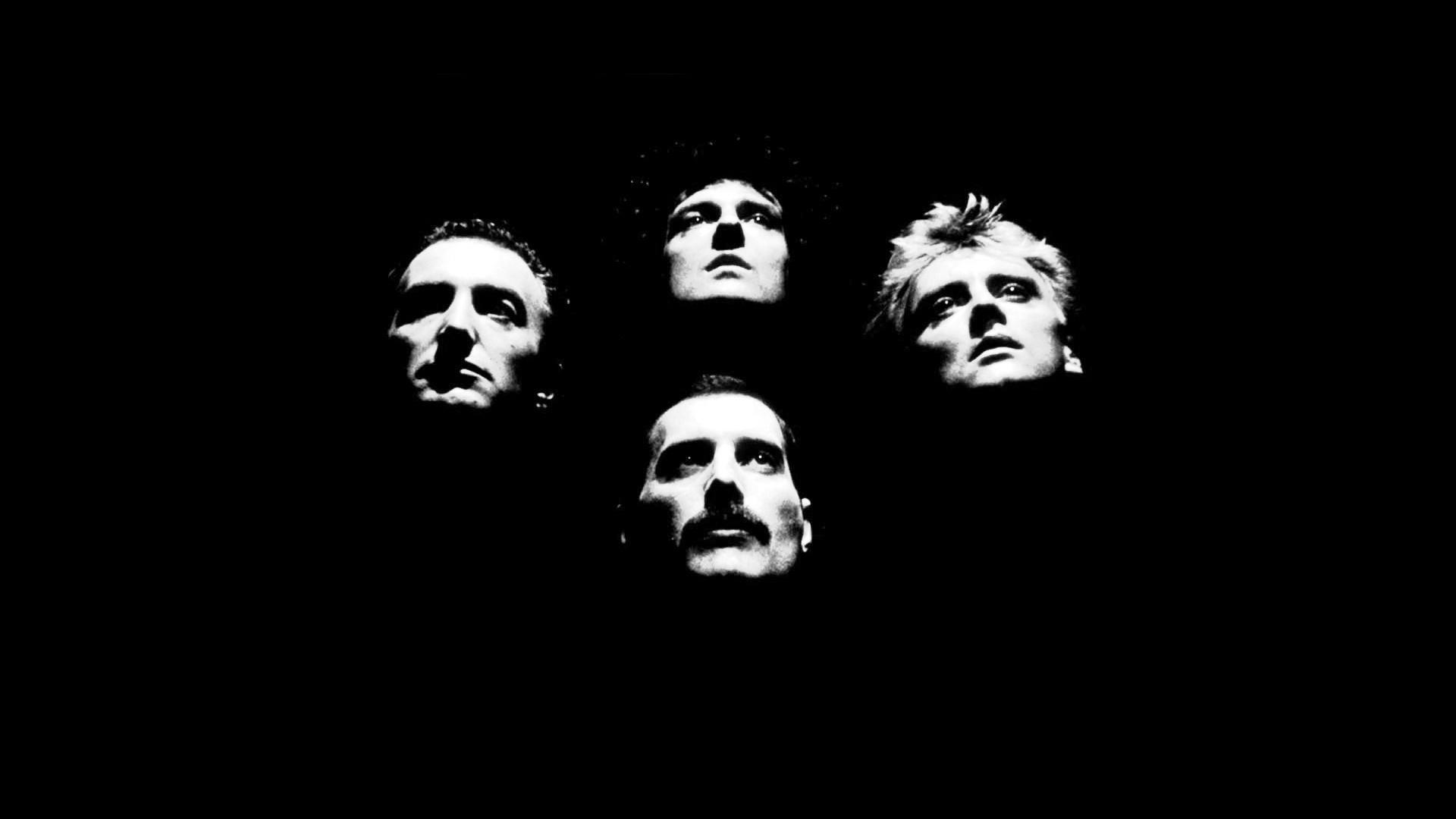 皇后乐队黑色风格壁纸