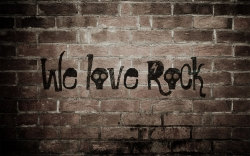we love rock 摇滚桌面背景高清大图