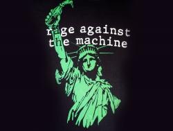 Rage Against the Machine暴力反抗机器乐队和自由女神高清图片